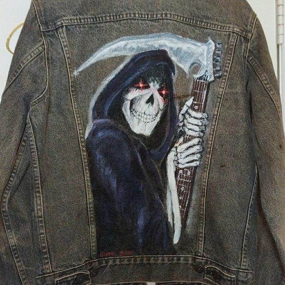 Levi Jean Jacket w/ Custom Grim Reaper